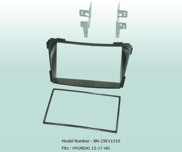 Car Fascias Audio Panel Frame Dash Kit For Hyundai i40 2013 2017 Retail Set Free Shipping