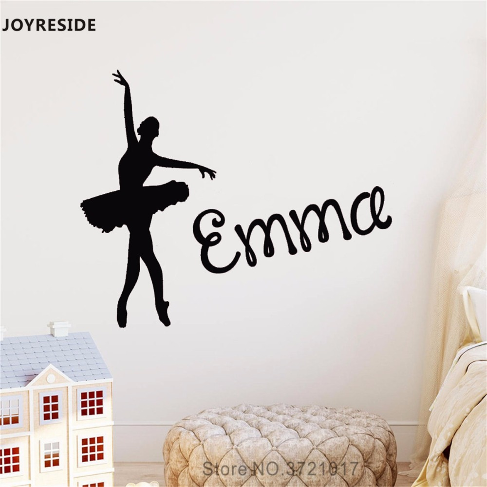 Ballet Shoe Vinyl Wall Sticker For Living Room Girl Room Bedroom Home Wall Decoration Fancy Colours Home Decor Wall Stickers