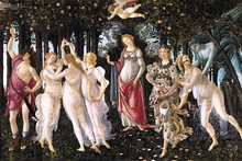 nude canvas painting Huge Wall Mural Art Print Poster Imagich Top 100 prints La Primavera (Spring), 1477 By Sandro Botticelli