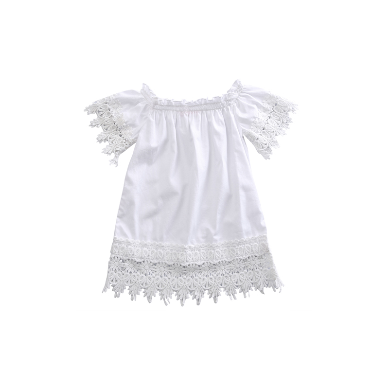 2017 Lovely Casual Newborn Toddler Baby Girls Cotton White Floral Off Shoulder A-Line Knee-Length Princess Dress Outfit Party комплект аксессуаров для волос lovely floral