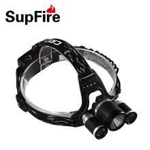 Supfire HL33 900 Lumens 4 modes Headlamp Outdoor Light Ip67 Waterproof HeadLight Rechargeable by 18650 Battery Fishing Camping
