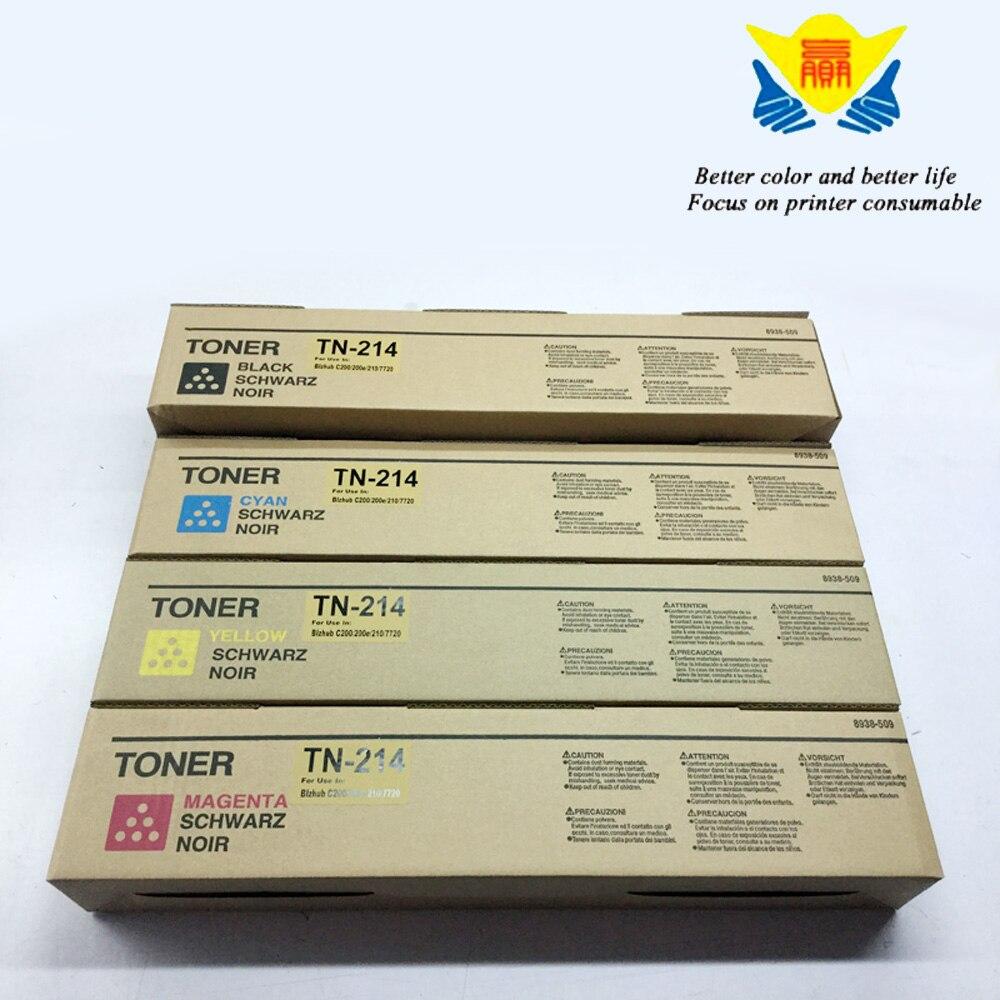 Jianyingchen Shade Suitable Toner Cartridge Tn214 For Konica Minolta Bizhub C200 C210 (4Pcs/lot) Free Transport Unique