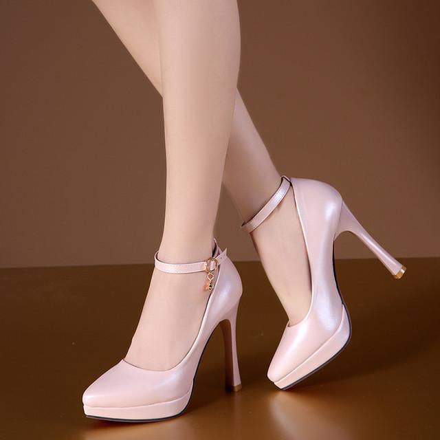 2017 mujer bombas de boda blanco zapatos de las mujeres zapatos de tacón alto zapatos de plataforma sy-1887