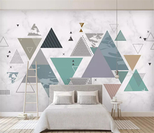 beibehang Customized modern minimalist geometric background landscape scenery decorative mural papel de parede 3d wallpaper