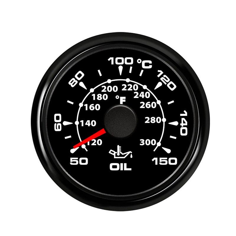 Bulldozer Oil Temperature Gauge Meter Digital Waterproof Indicator fit Car Boat Marine Vessel soil shifter 7 color Backlight