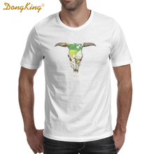 DongKing Newest 2017 Summer Men T Shirts GO WEST Printed T-shir Fashion Short Sleeve Tee Shirts Tops