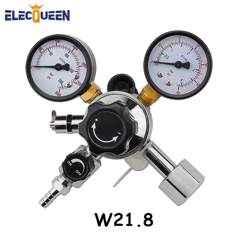 CO2 Regulator Keg Beer Regulator W21 8 Inlet with 5 16 Barbed Switch Pressure Relief Valve
