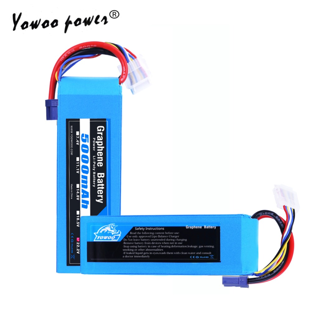 Lipo 6S 22 2V 5000mAh Battery 100C High Discharger Rate Graphene Max 200C XT90 EC5 TRUCK