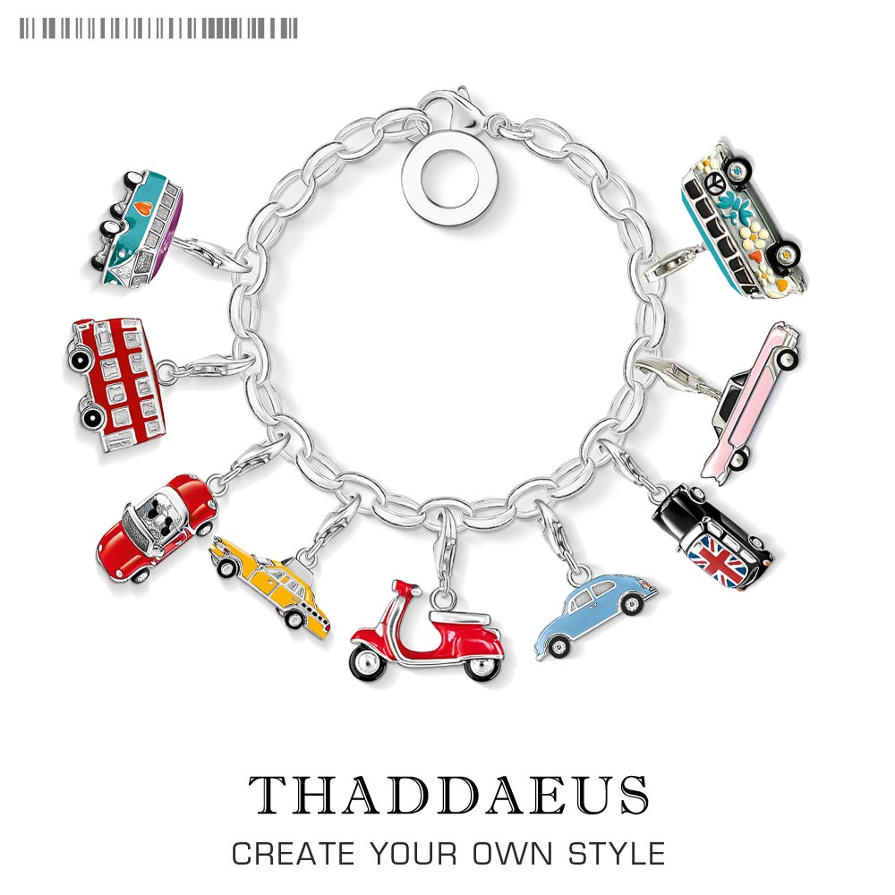 Charm Pendant Red Convertible Car 925 Sterling Silver For Women & Men Mini Car Club Gift Thomas Style Charm Fit Ts Bracelet