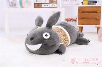 creative stripes cloth prone totoro large 80cm plush toy soft pillow Christmas gift h814