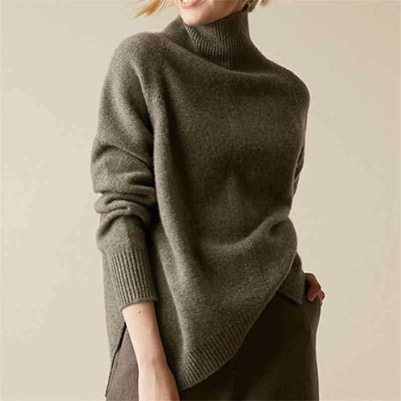 Gejas Ainyu2019Autumn Winter New Cashmere sweater winter clothes women turtleneck sweater Loose women sweaters knitting pullover