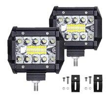 Светодиодный светильник бар 4 дюйма 60 Вт светодиодный рабочий светильник баров комбо внедорожные 4х4 туман светильник вождения светильник лампа для грузовика 12В головной светильник для лодки