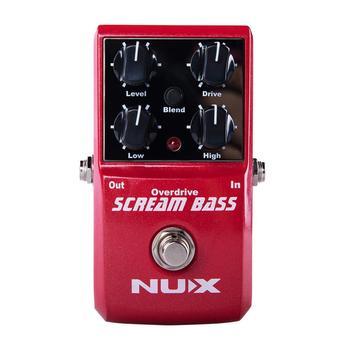 NUX Scream Bass Overdrive Guitar Effect Pedal Analogue Circuit Gain Level High Low Guitarra True Bypass Guitar Accessories