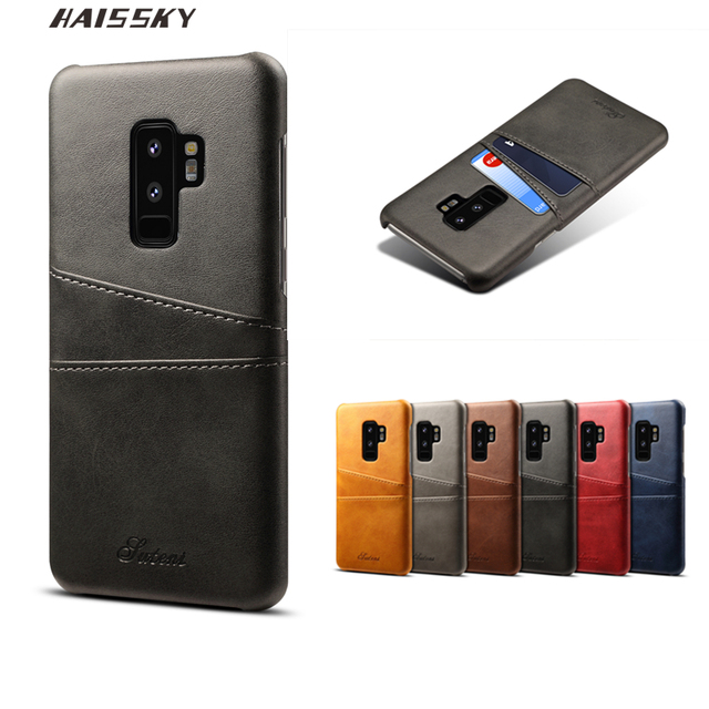 new products a2884 40de6 US $6.67 20% OFF|Haissky PU Leather Wallet Case For Samsung Galaxy S9 S9  Plus Case Business Card Holder Back Cover Phone Shell For Men-in Wallet  Cases ...