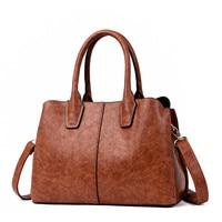 New Retro Oil Leather Luxury Handbags Women Bags Designer Women Messenger Bags Winter Style Woman Bags For Women 2018 Sac A Main