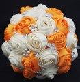 Varios colores están disponibles Hecho A Mano Ramo De La Boda Ramos de Flores de Seda Rosa Flores De La Boda Nupcial Cristalino de La Perla