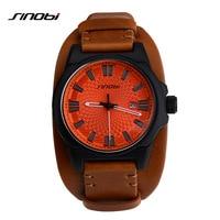 SINOBI Brand Sport Wirstwatch Relogio Masculino Males Leather Watchband Watches Causal Japan Quartz Clock Mens Military