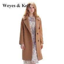 Здесь можно купить  Weyes & Kelf Slim Single Breasted Long Khaki 2017 Wool Women Coat New Winter Trench Coats Women Coat Winter Wool Overcoat