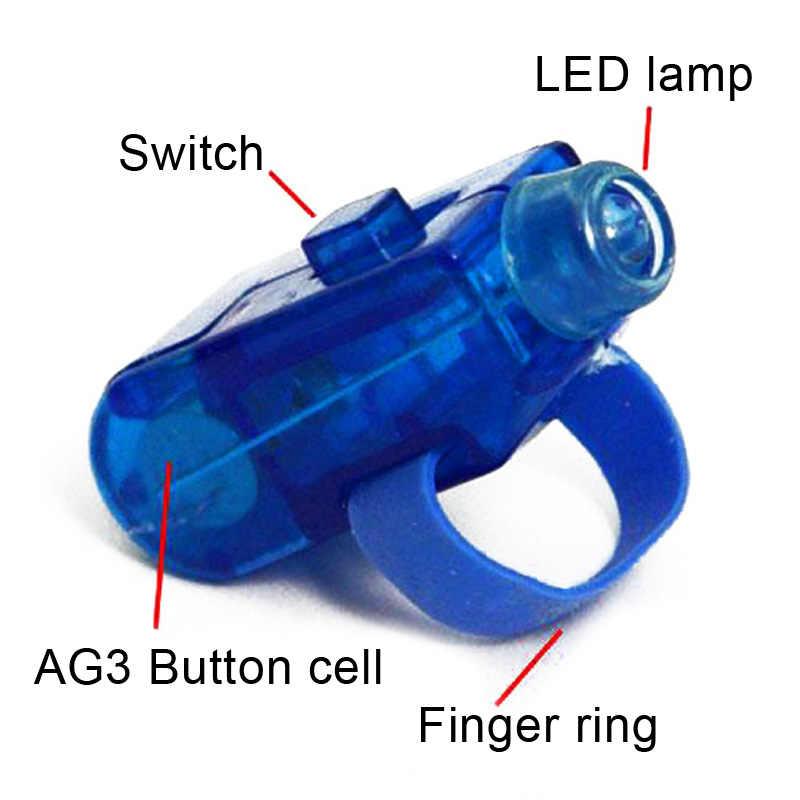 حار بيع 8 لون LED ليزر البنصر أضواء شعاع الشعلة الطرف