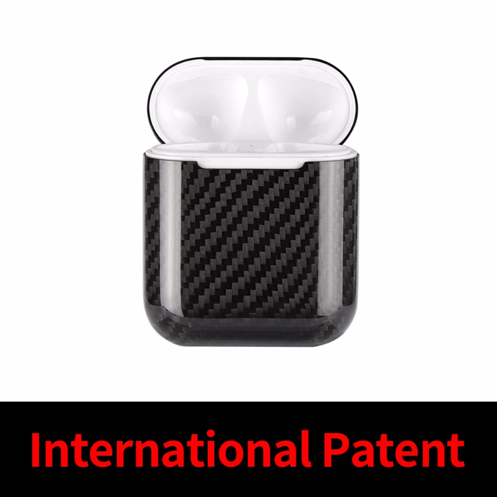 Mcase for Apple AirPods in Earphones Headphones Case Cover Bluetooth Wireless Earphone Real Carbon Fiber Case