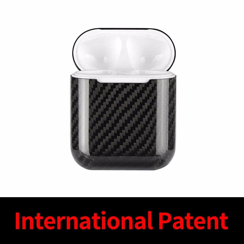 Mcase pour Apple AirPods dans Écouteurs et Casque Housse Bluetooth Sans Fil Écouteurs Réel de Fiber De Carbone Cas pour AirPods