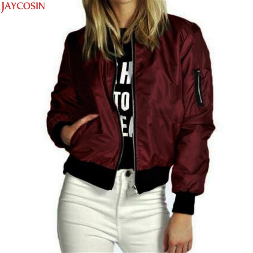 JAYCOSIN Women Coats Women Zipper Short Thin Coat Spring Autumn   Basic     Jackets   Casual Outerwear
