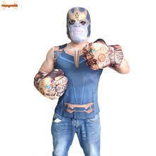 Thanos Gauntlet for Boys Cosplay Gloves Latex Mask Halloween Accessories Kids Toys