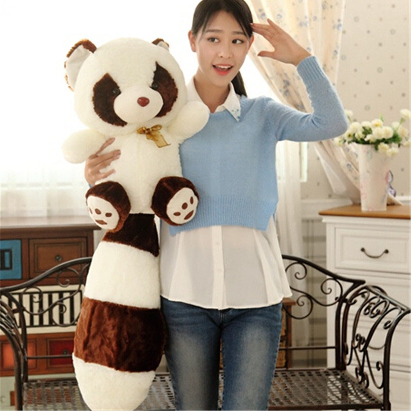 Fancytrader Cute Plush Raccoon Koala Toy Soft Stuffed Little Panda with Fat Tail 60cm Gift for Kids fancytrader new pop animal koala plush toy big stuffed plush koala doll 50cm best gift for children