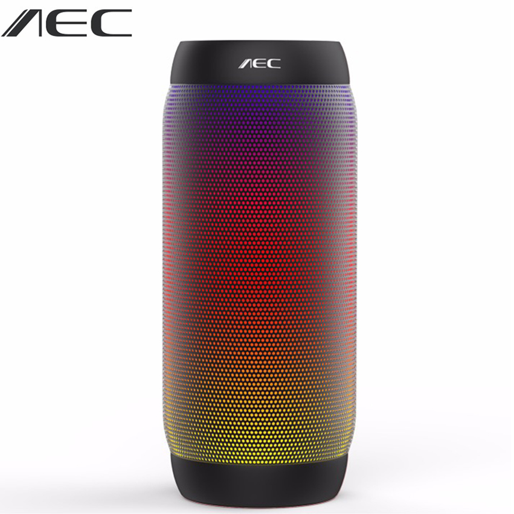 AEC Waterproof LED Lights Outdoor Portable Bicycle Wireless Bluetooth Hand Speaker Column Mini Subwoofer for Xiaomi JBL Speakers outdoor cycling wireless bluetooth speaker 1200mah 4w 2 portable nfc waterproof speaker subwoofer for mountain bike mp3 player