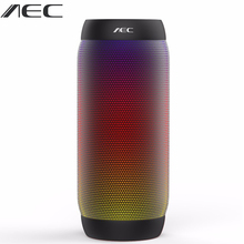 AEC Waterproof Outdoor Wireless Portable Bluetooth Speaker LED Light Bicycle Column FM Mobile Bass Loudspeakers For