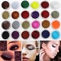 AIMEI 1 unids Todos Los 24 Colores de Sombra de Ojos Sombra de Ojos Brillante Polvo de Destello Fino Estupendo Brillante Glitter Powder Sombra de Ojos Maquillaje de Color Rosa herramienta