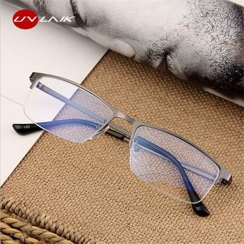 d7b3a77b29 UVLAIK mujeres hombres gafas miopía gafas de vista ópticos marco  transparente gafas-1,0-1,5-2,0- 2,5-3,0