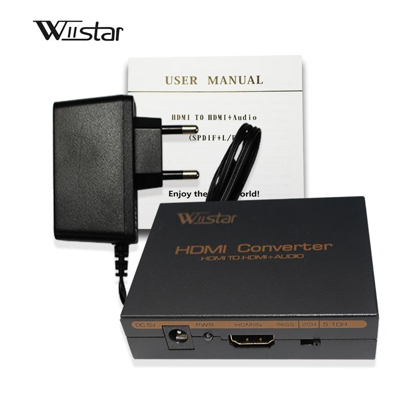 Güvenlik ve Koruma'ten DVR Kartları'de Wiistar hdmi hdmi ve R/L & spdif ses 2.1/5.1ch hdmi ses çıkarıcı ücretsiz kargo title=