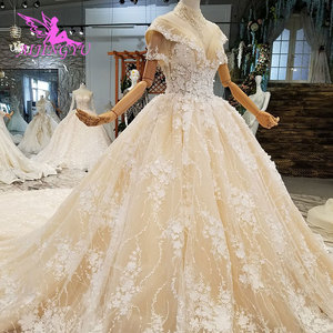 Image 2 - فساتين زفاف AIJINGYU مقاس كبير فستان كوري دانتيل تول قطع قطعتين خصم فساتين زفاف جميلة للبيع