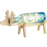 LED Deer Handmade Glass Bottle Gift Night Lamps Novelty Reindeer USB String Lights Kids Home Room
