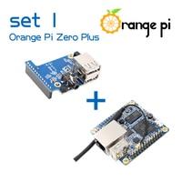Orange Pi Zero Plus SET1 : OPI Zero Plus & Zero Expansion Board H5 Chip Quad-Core