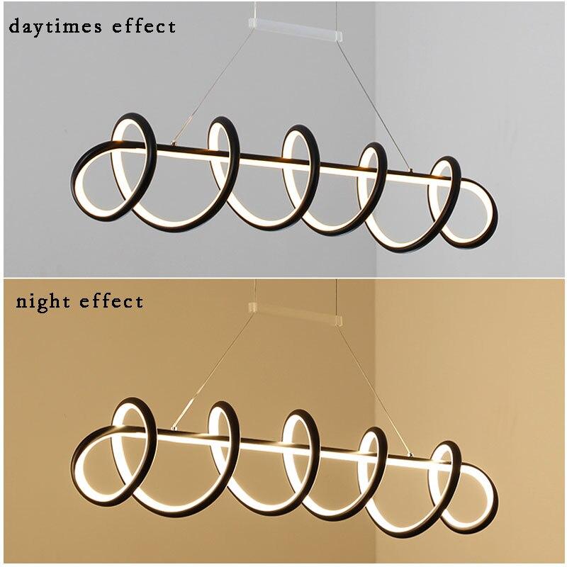 Image 5 - Black&White Modern LED Pendant Light For Living Room Dining room Kitchen Ceiling Mounted Lamp Led Pendant lamp Hanging Lamp Home-in Pendant Lights from Lights & Lighting