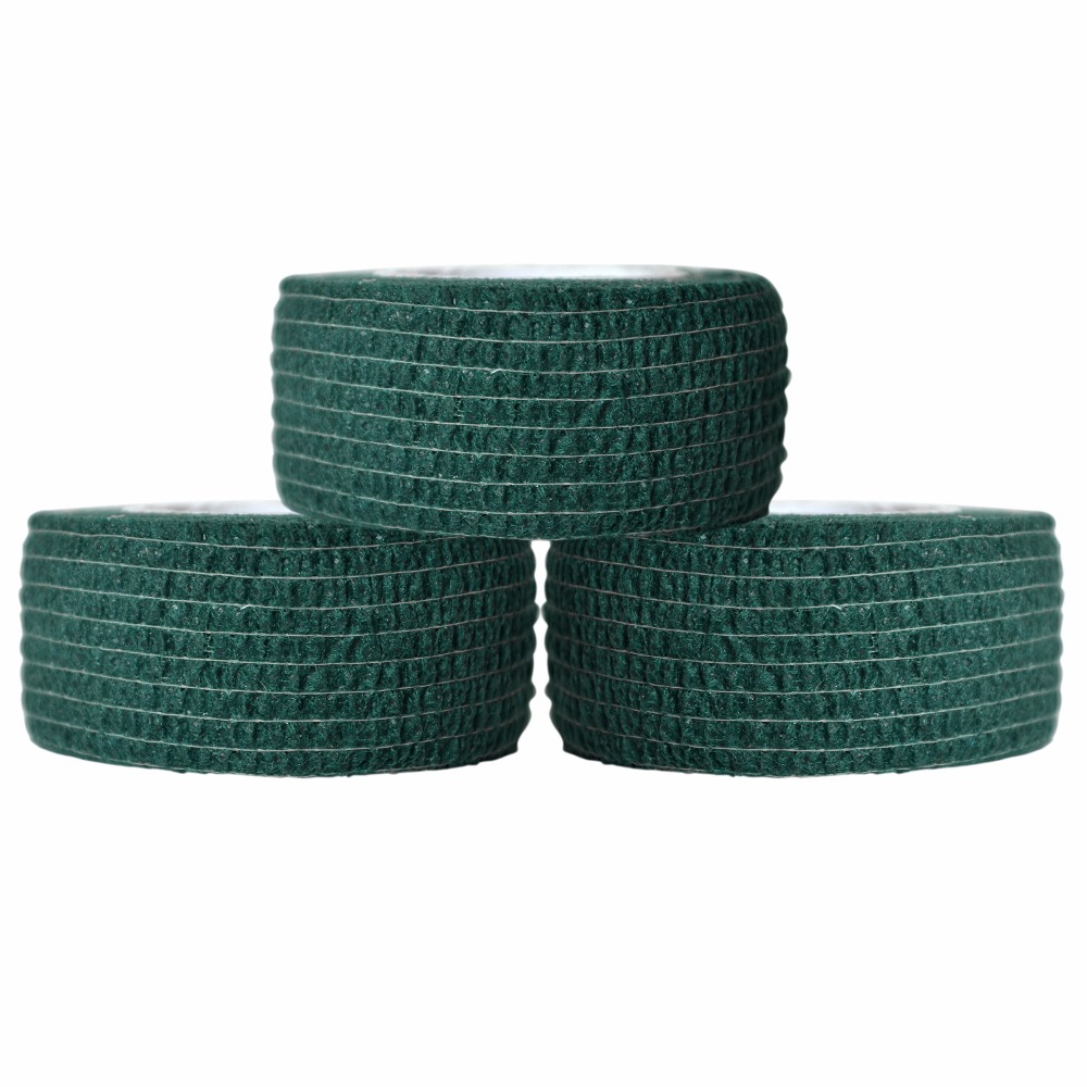 40Pcs Self Adhesive Cohesive Wrap Medical Bandage Cotton Elastic Gauze 2.5cm Invisible Green