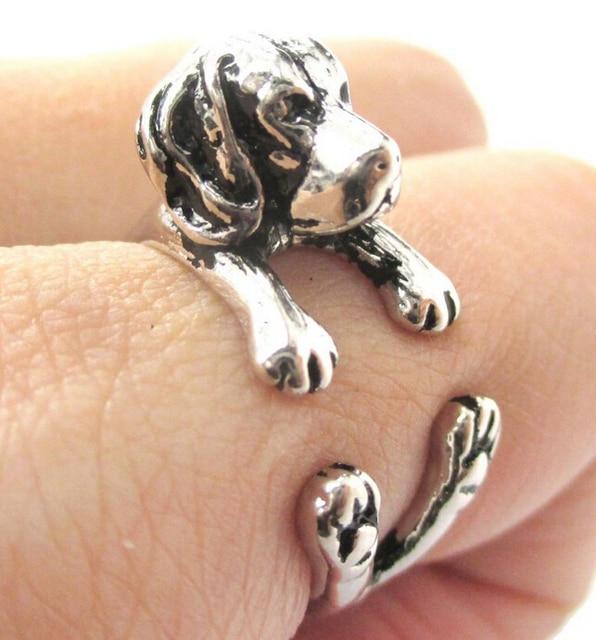 Купить кольцо для собак в стиле хип хоп регулируемое кольцо с гончей