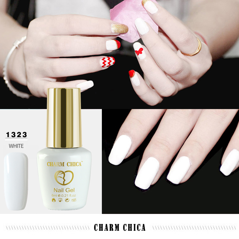 CHARME CHICA Noir Blanc Nu Rose Rouge UV Gel Vernis À Ongles ...