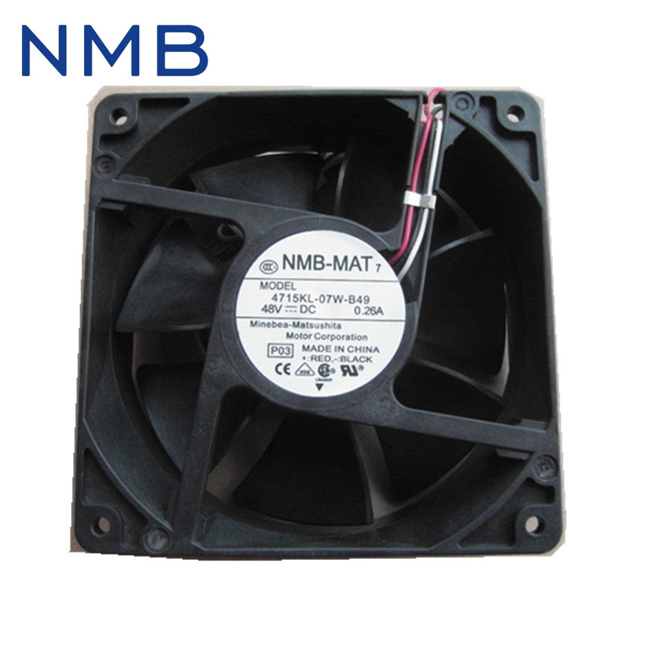 NMB  Brand new original converter radiator fan fan 4715KL-07W-B49 48V computer equipment 119*119*38mm new nmb mat minebea 5920pl 07w b46 17251 48v 0 52a frequency converter cooling fan