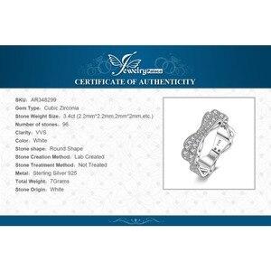 Image 5 - JewelryPalace CZ obrączki 925 srebro pierścionki dla kobiet wieżowych pierścionek jubileuszowy Eternity Band srebro 925 biżuteria