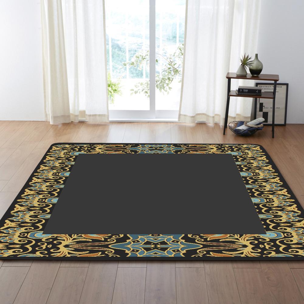 Style européen fleur motif Floormat tapis zone tapis couverture enfant jouer jeu tapis pour chambre salon décoration de la maison cadeaux - 6