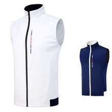 Men's Vest Golf Clothes Full-Zip Sleeveless Windproof Waterproof Material Coat Competition Uniform Spring Wasitcoat(China)
