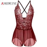 2018 Valentine S Day Women Sexy Lace Lingerie Sleepwear Hot Deep V Sex Babydoll Underwear Nightwear