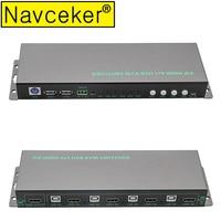 Navceker USB HDMI KVM Switch 4 Port USB KVM HDMI Switch Support 3840*2160/4K*2K PIP Extra USB 2.0 Many Computer Mouse&Keyboard