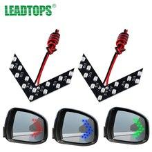 LEADTOPS 2pcs Amber Arrow Panel 14 SMD LED Car Side Mirror Indicator Light Car Stylig LED Rearview Mirror Light CJ