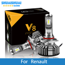цена на 2 Pcs Car Headlight For Renault Trafic/Stepway/Scenic/Scala/Sandero/Safrane/Megane/Logan/Laguna H7 H4 LED H1 H7 H3 8000LM CSP