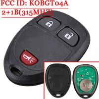 Substituição da Chave Do Carro GL8 Primeira Terra Alarme Auto Chave Remota 315 MHZ FCC ID KOBGT04A Para GMC/Chevrolet/Buick