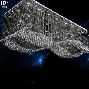 Image 3 - الحديثة الإبداعية عالية الجودة منخفضة الجهد الهندسة مصباح الكريستال مصباح مصباح كريستال LED مستطيلة أضواء السقف L1200xW700mm